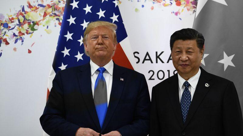 6月29日上午,「習特會」在日本大阪國際會展中心登場。特朗普與習近平會見時間約80分鐘,特朗普表示,與習近平會談比預期好。(AFP/Getty Images)
