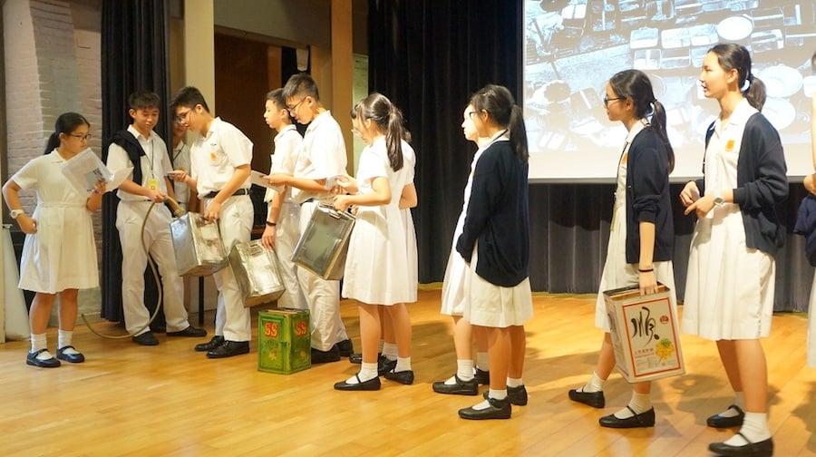 學生參與歷史場景表演。(主辦單位提供)