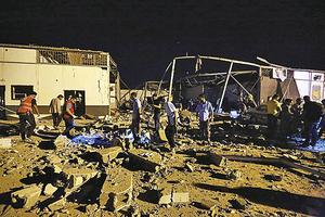 的黎波里難民中心遭空襲 死傷逾百