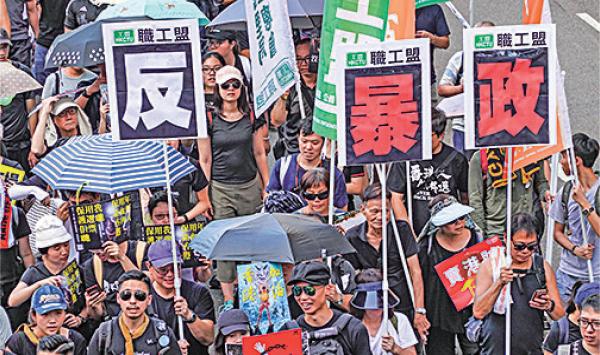 劉細良指,若當局再鎮壓,香港的民主運動將變成以與中共對抗為目標,變成全球抗共前線。(宋碧龍/大紀元)
