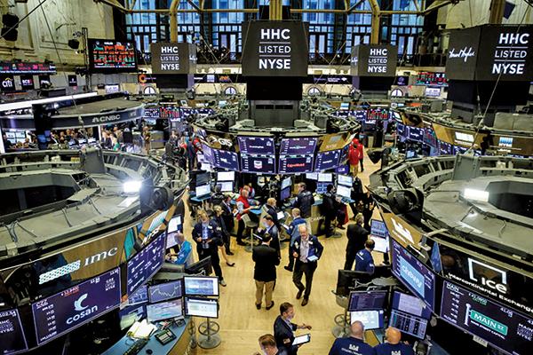 美國股市周三(7月3日)收於創紀錄高點。圖為紐約證券交易所。(AFP)