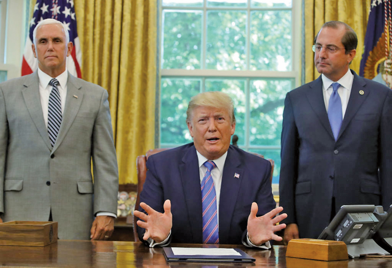美國總統特朗普周三(7月3日)表示,國籍問題的答案非常重要,政府絕對會將此問題向前推進。(Getty Images)