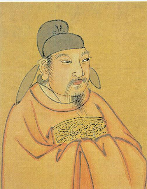 清代彩繪唐憲宗李純像。(公有領域)