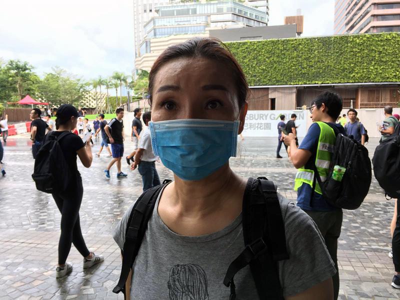 香港抗爭者妮可。(宋碧龍/大紀元)