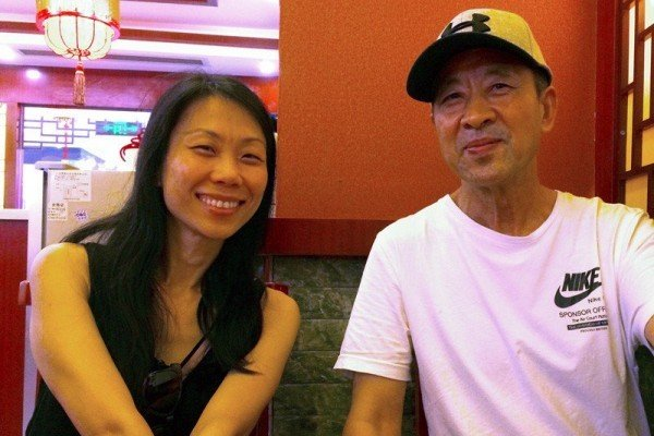 王治文(右)和女兒王曉丹。(王曉丹提供)
