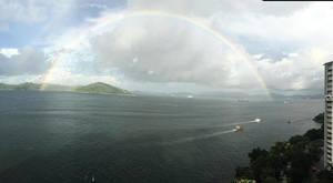 雙彩虹 日暈 香港七一前異象