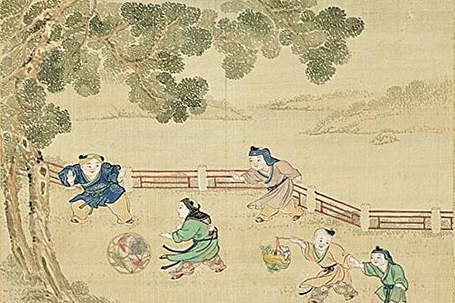 周西水小時候不會說話,卻記得前一輩子的事。圖為《歡洽寰區冊.戲球提燈》,台北國立故宮博物院藏。(公有領域)