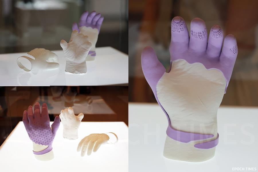 羅詠欣(Wendy)使用三維掃描及3D打印技術,為母親設計出手指義肢「美感・新肢」。(陳仲明/大紀元)
