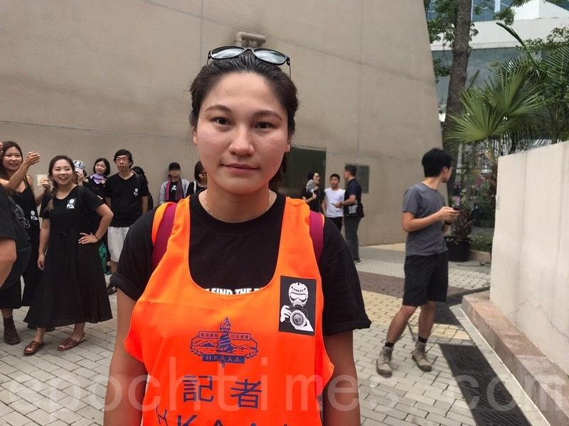 前體育記者李小姐。(林怡/大紀元)