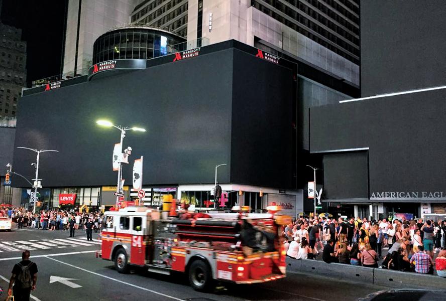 紐約曼哈頓發生大停電