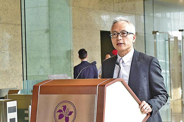 總裁李達志在該局《匯思》專欄撰文稱,金管局會繼續採取合適措施,確保香港貨幣及金融體系穩定。(大紀元資料室)