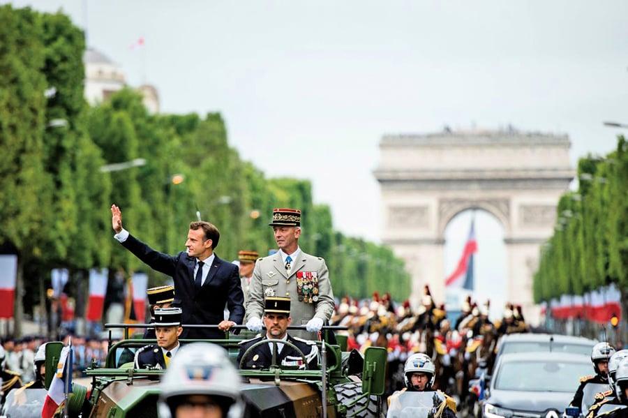 法國國慶日大閱兵  歐洲盟軍展實力
