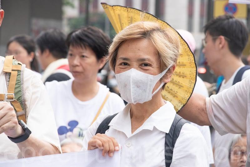 葉德嫻近日多次參與遊行集會,她再次上街,為年輕人發聲(蔡雯文/大紀元)