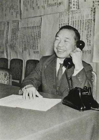 1956年的佐佐木更三(維基百科公有領域)
