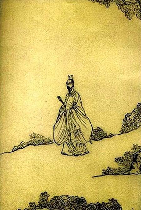 陳洪綬‧《屈子行吟圖》(Wikimedia Commons)