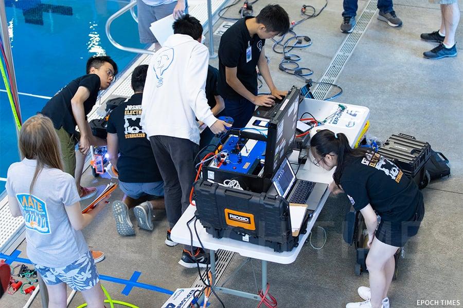聖公會中學(澳門)水底機械人小組赴美國參賽。(受訪者提供)