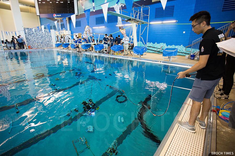 MATE國際水底機械人大賽比賽進行中。(受訪者提供)