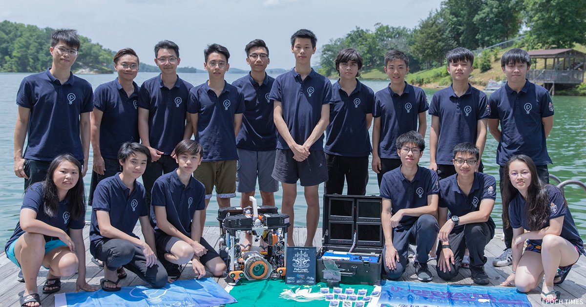 聖公會中學(澳門)水底機械人小組,今年再赴美國參賽,首度越級挑戰大學組(Explorer Class),獲得大學組第四名。(受訪者提供)