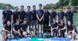 澳門中學生越級挑戰大學組 國際水底機械人賽名列全球第四