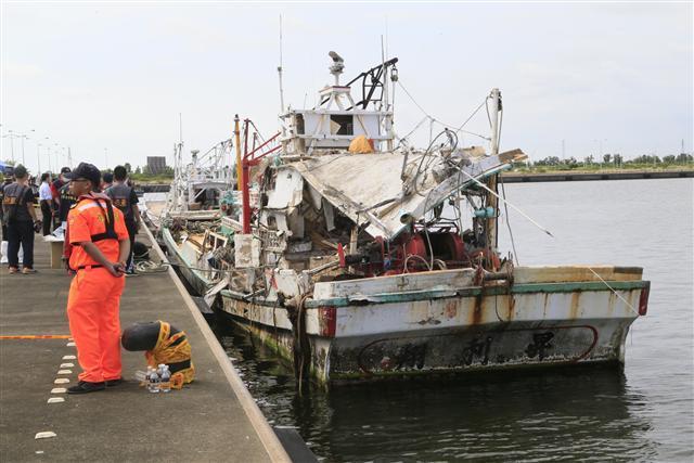 台海軍飛彈貫穿漁船 造成漁船長身亡