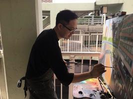 【七一遊行】畫家現場用油畫記錄七一
