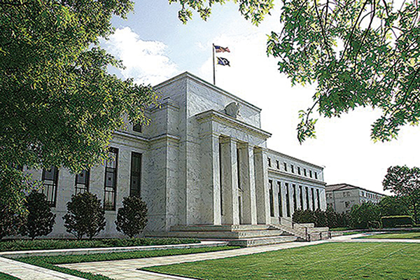 CME期貨市場預期7月美聯儲減息0.5%的機率暴升到逼近70%。圖為美聯儲大樓。(Getty Images)