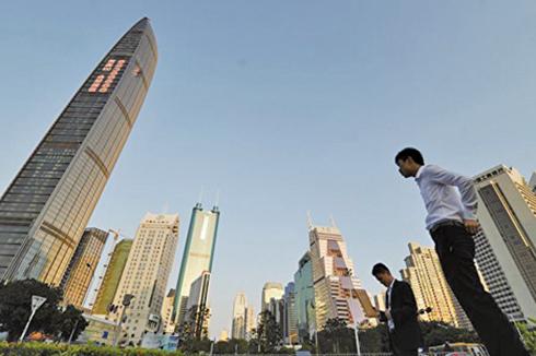 今年上半年,深圳的甲級寫字樓,其中前海片區空置率達65.7%。圖為示意圖。(Getty Images)