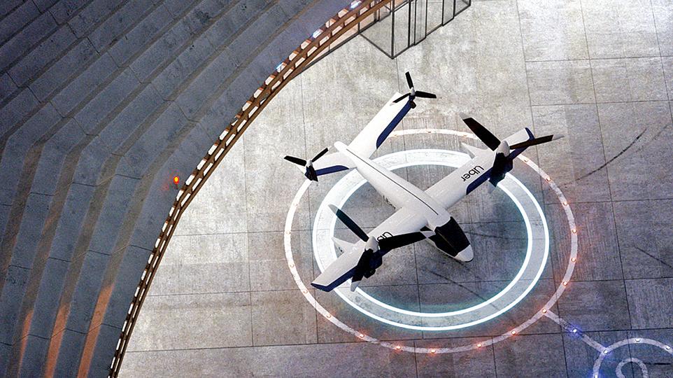 Karem Aircraft的四發傾轉旋翼機——「蝴蝶」空中出租車的效果圖。(Karem Aircraft)