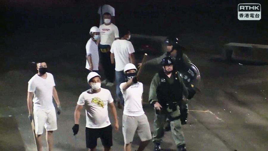 香港警黑合作? 黑幫老大元朗打人當場心臟病發