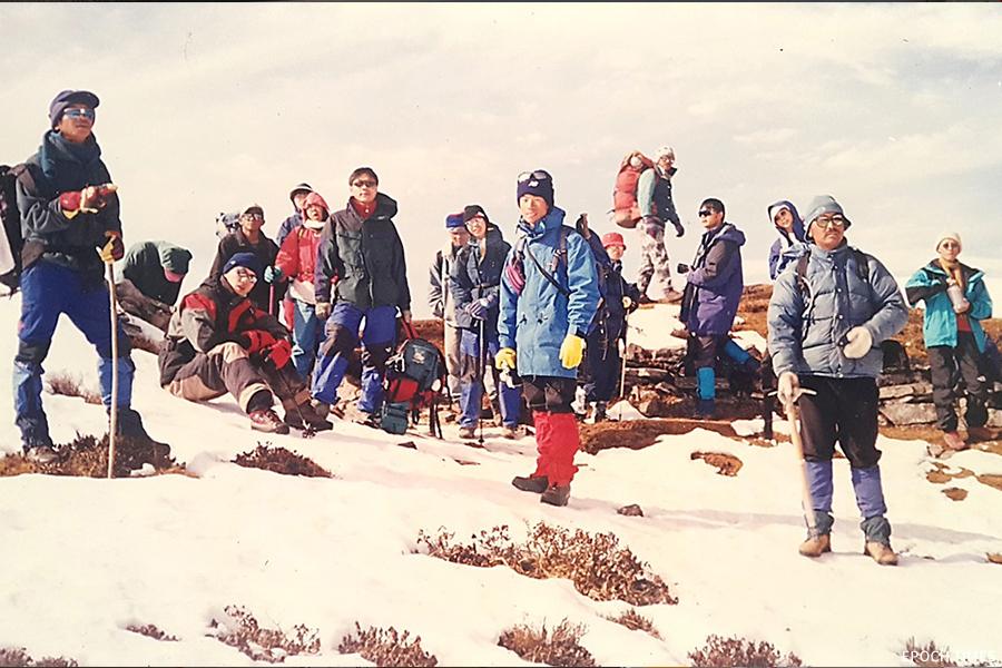 黃偉建1997年首次踏足尼泊爾,進行遠足旅程。(受訪者提供)
