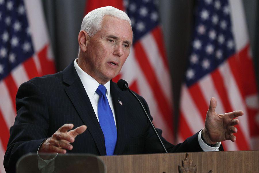 彭斯7月10日在加州表示美國一直在致力於維護全世界的宗教自由,而「中國(政府)必須改變」,融入「國際大家庭」。圖為彭斯資料圖片。(Lars Hagberg/AFP)