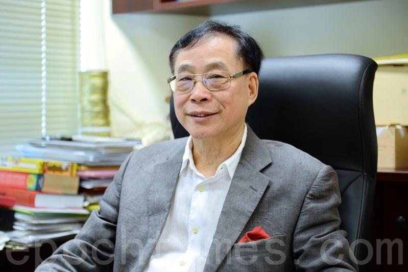 鄉議局研究中心主任、劉皇發妹夫薛浩然。(宋碧龍/大紀元)