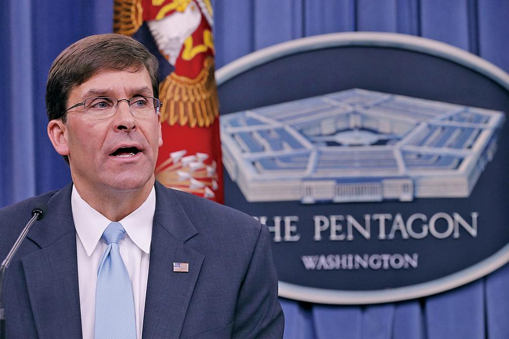 美國新國防部長埃斯珀表示,應該警惕中共技術進入美國系統。(Getty Images)