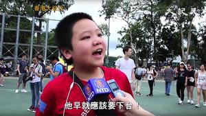 【七一遊行】11歲吳同學:政治問題不應用警察解決