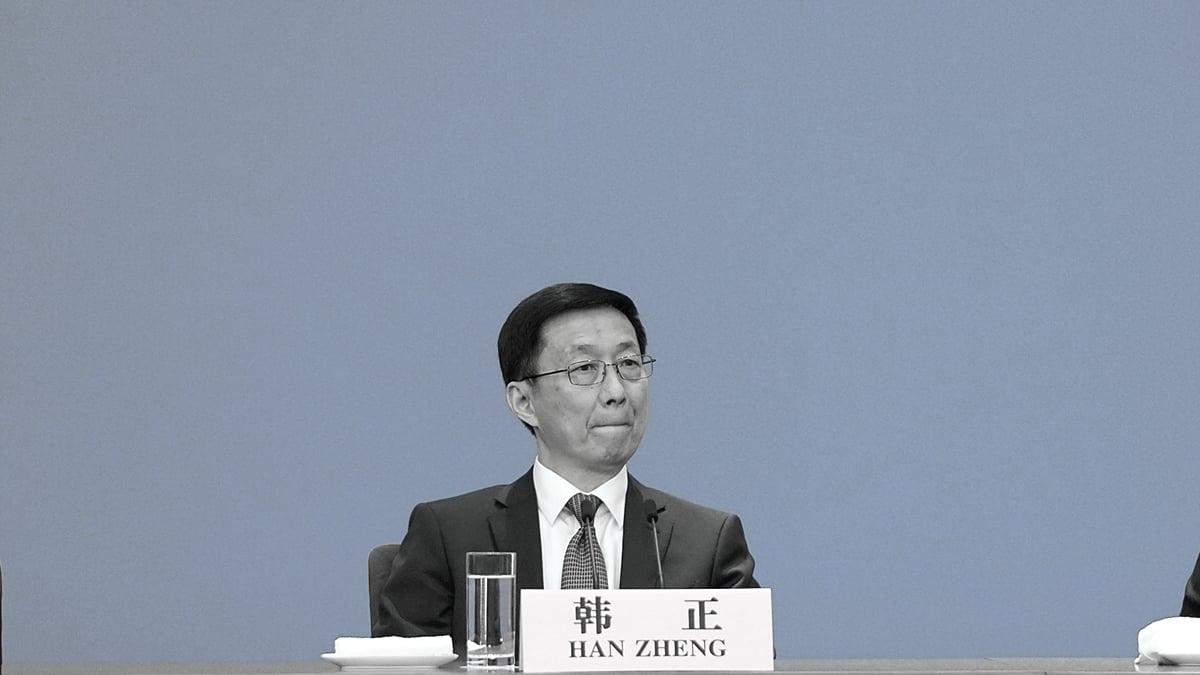 韓正的權力似乎橫貫黨政軍。(Lintao Zhang/Getty Images)