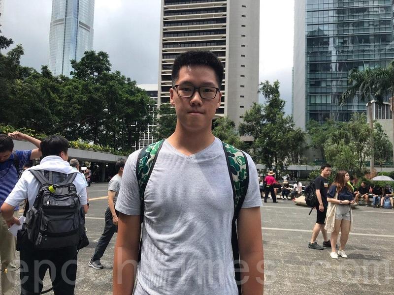 大學三年級生王先生。(林怡/大紀元)