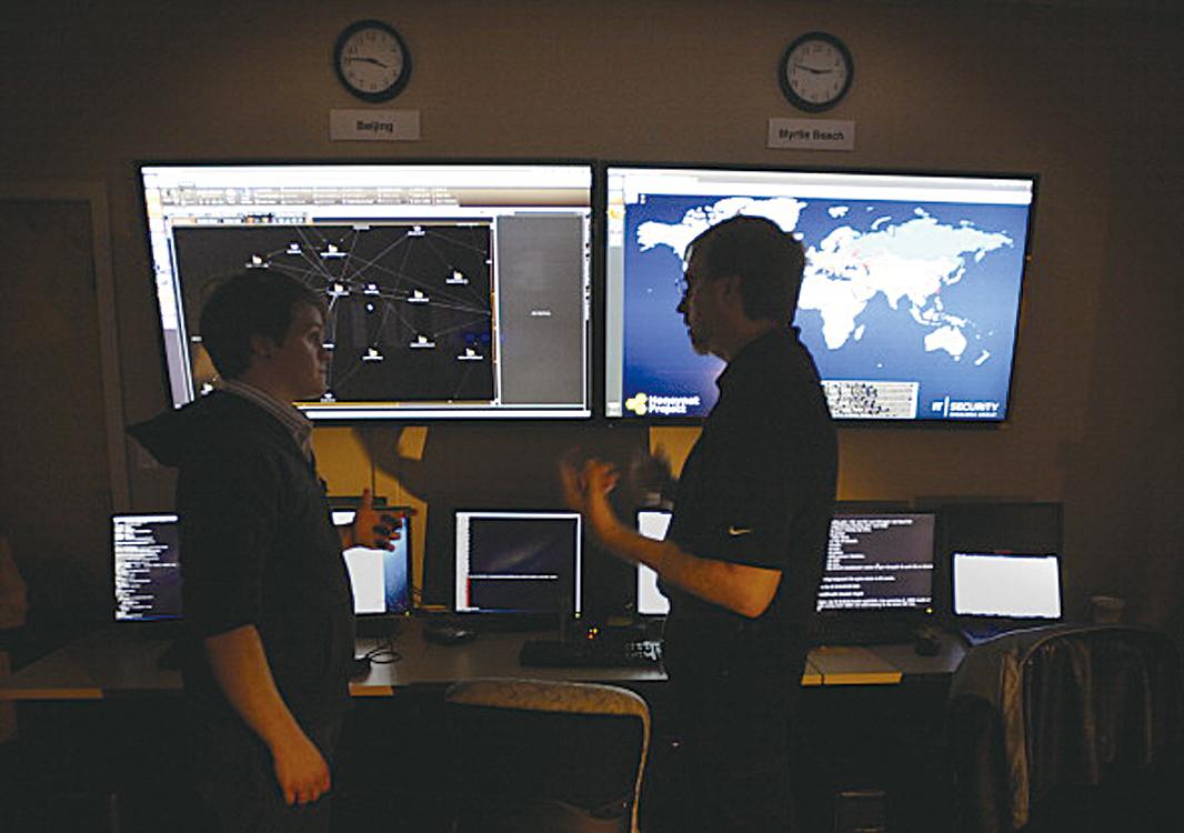 據估計,德國經濟僅僅因為網絡間諜和數據偷盜每年就損失約550億歐元(610億美元),其中大約1/5的襲擊來自中國(中共)。(Stephen Morton/Bloomberg via Getty Images)