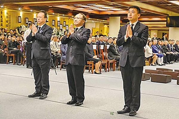 中聯辦主任王志民等都有參加該次追思會。(寶蓮寺Facebook)