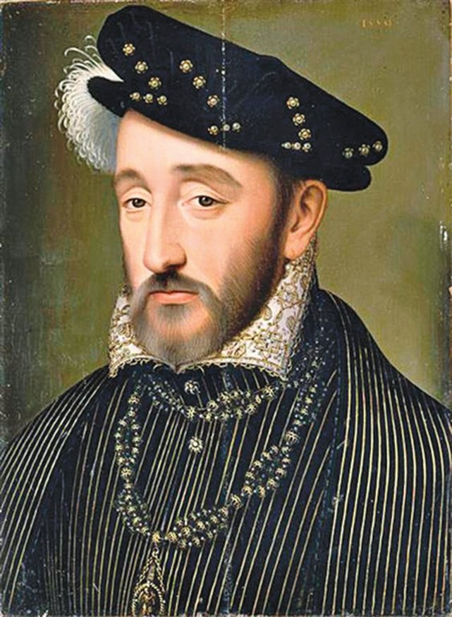 法國國王亨利二世肖像。(公有領域)