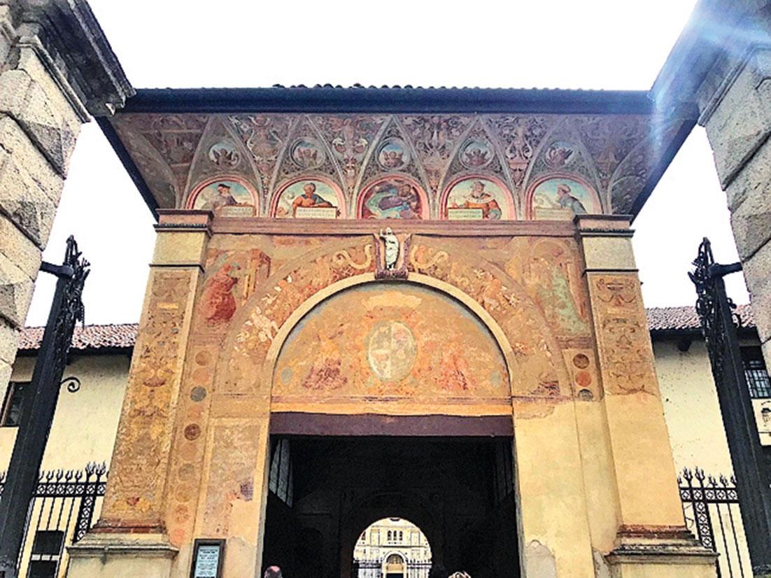 修道院入口(章妮妮/大紀元)