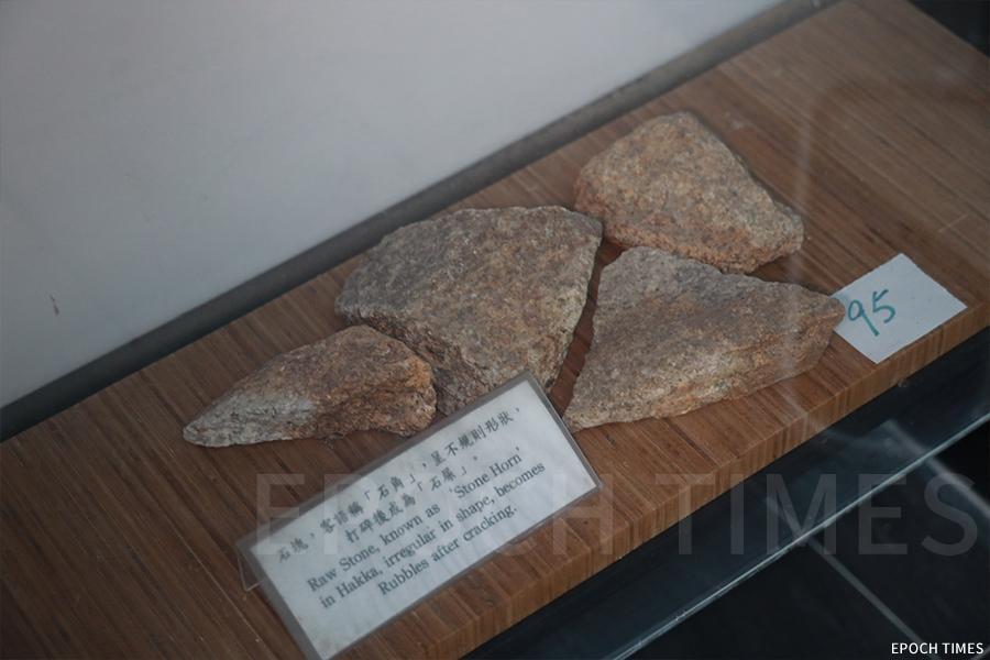 鯉魚門開採的花崗岩。(陳仲明/大紀元)