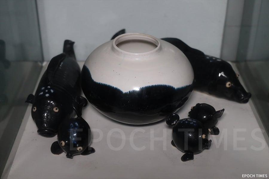 館內的陶瓷展品。(陳仲明/大紀元)
