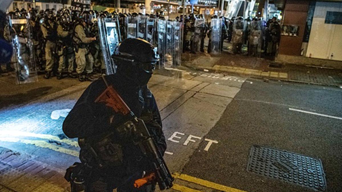 外界擔憂,若香港局勢惡化,中共恐派遣駐港部隊介入,令「六四」重演。(Laurel Chor/Getty Images)