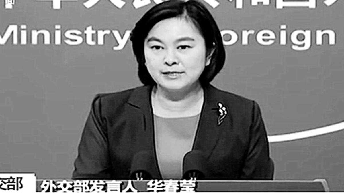 中共外交部發言人華春瑩在記者會上聲稱,香港反送中示威是「美方的一個作品」,當天,美國國務院發言人,斥責其言論荒謬。(影片截圖)