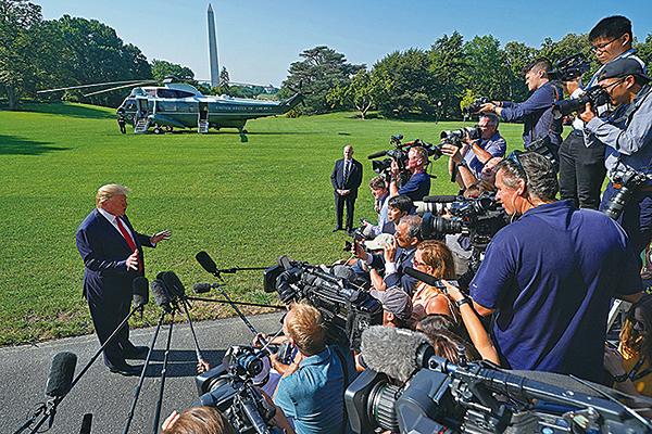 美國總統特朗普周二表示,中美雙方談判會「有一個非常好的協議,或者根本沒有協議」。(Getty Images)