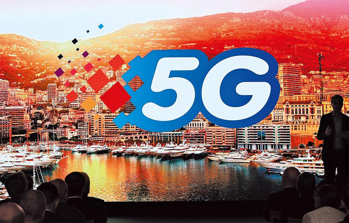 美國一直試圖限制盟友在建設5G網絡時使用華為等中國電信設備製造商的技術,因為擔心中共會利用華為開展間諜活動。圖為摩納哥宣佈開通5G網全面覆蓋的官方活動。(VALERY HACHE/AFP/Getty Images)