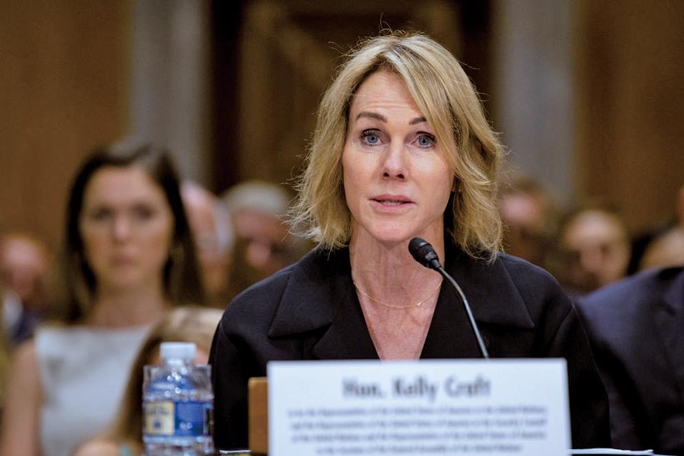 克拉夫特(Kelly Craft)今年5月被特朗普提名為美國駐聯合國代表。(Getty Images)