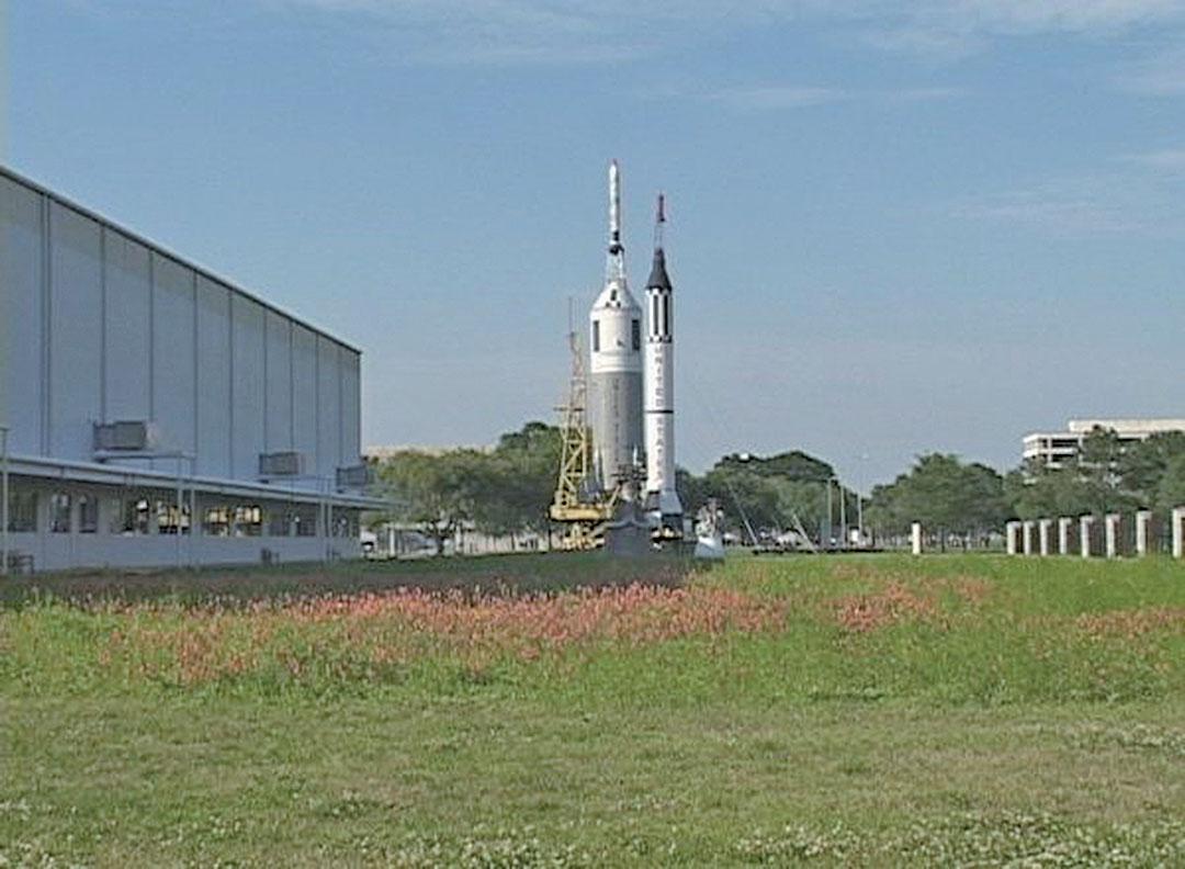 美國國家航空暨太空總署位於德薩斯侯斯敦的宇航局詹森太空中心。(Kitty Wang/新唐人電視台)