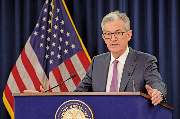 美聯儲主席傑洛姆鮑威爾(Jerome Powell)。圖為資料照。(Getty Images)