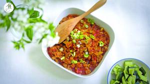 香炒番茄肉末